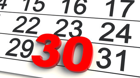 Dia 30 ultimo dia renta