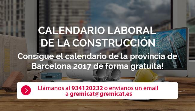 calendario construccion 2017