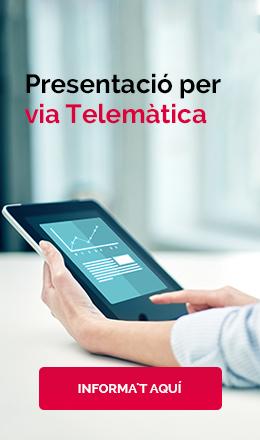 PRESENTACIO VIA TELEMÀTICA